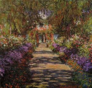 Monet - sentiero nel giardino di Giverny